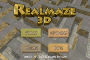 realmaze 3d title screen