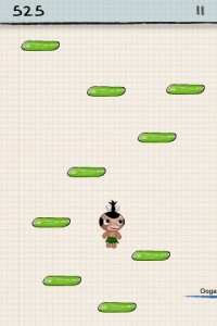 What are the names of characters in Doodle Jump?