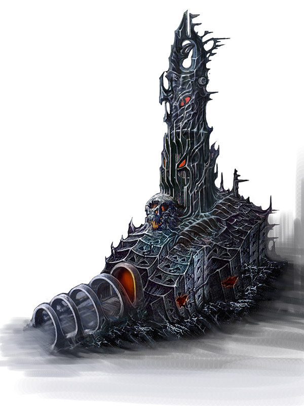 The concept art of evil tower