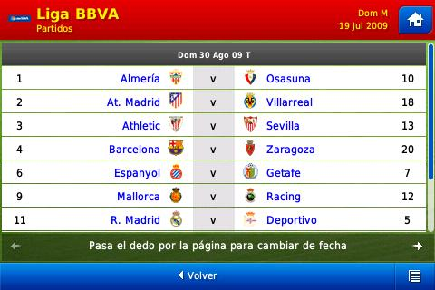 League Fixtures Screenshot