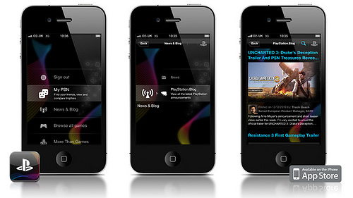 PlayStation iPhone App by Sony em breve