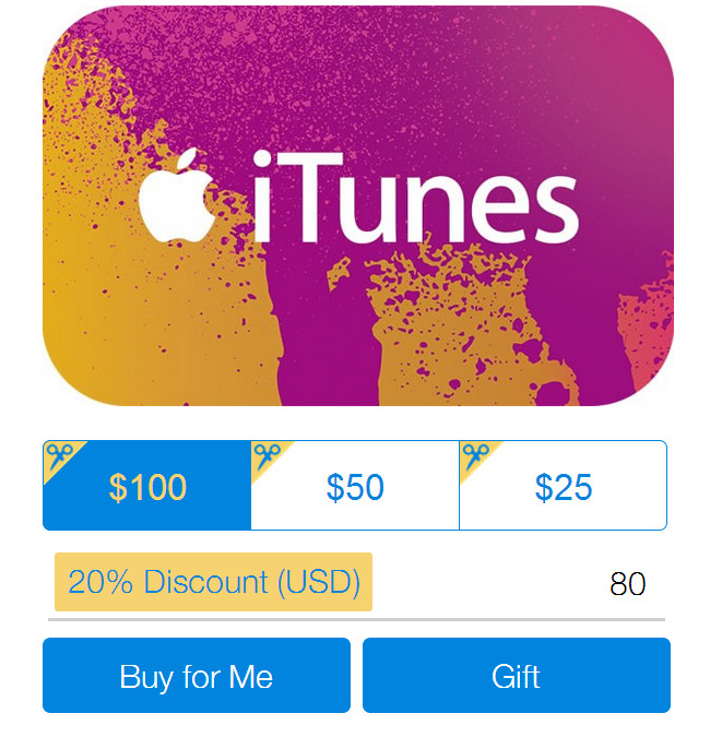 PayPal's Selling ITunes Gift Cards For 20% Off Right Now