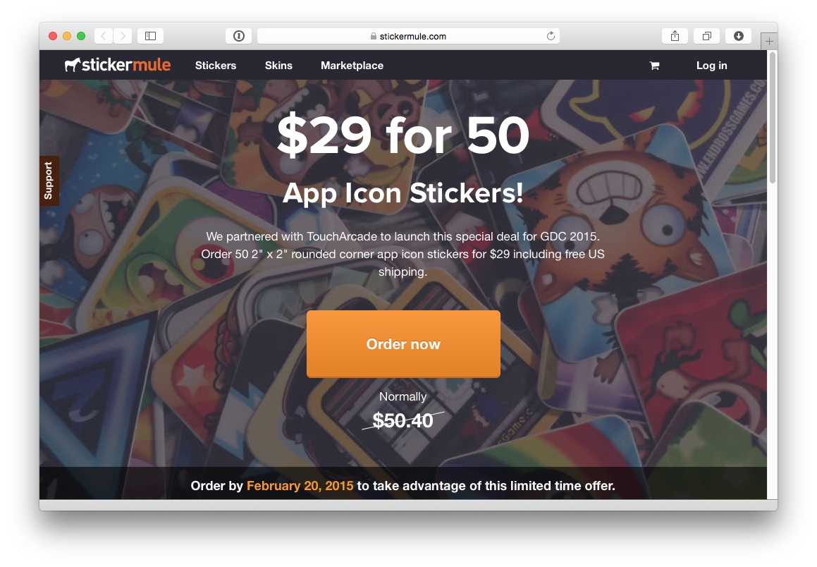 Sticker mule coupon - The Toucharcade Gdc Sticker Swap 2015 Party Is Official