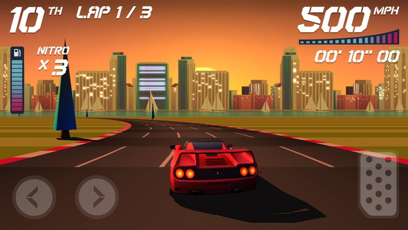 car racing arcade game