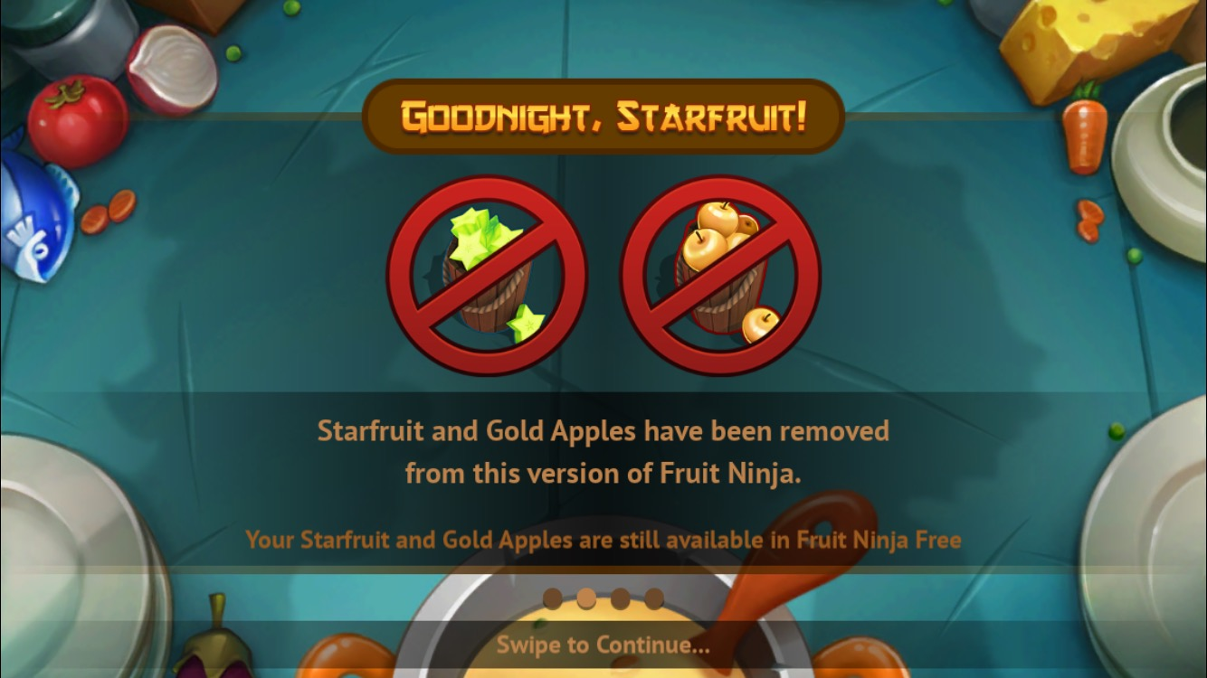 Fruit ninja 3d -  Fruit Ninja Ditches The Premium Currency In Paid Version Fruit Ninja Free Continues To Be Freemium Toucharcade