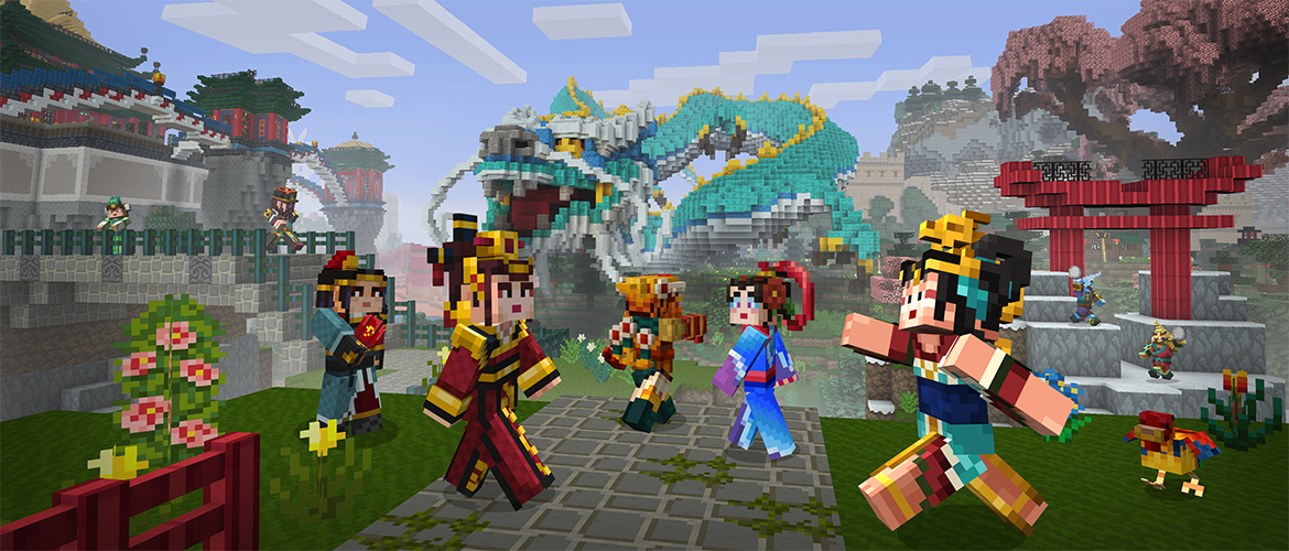 minecraft pocket edition gets chinese mythology skins