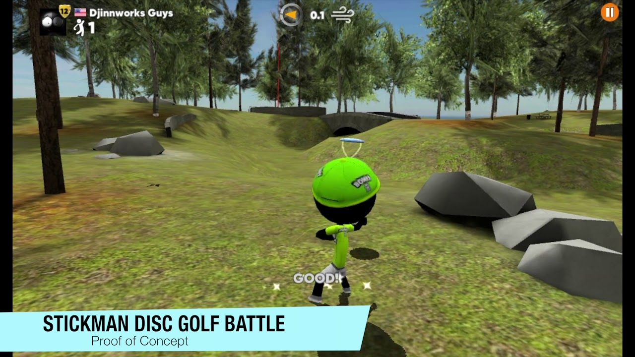 photo image 'Stickman Disc Golf Battle' is a Competition-Focused Take on the Classic Outdoor Game