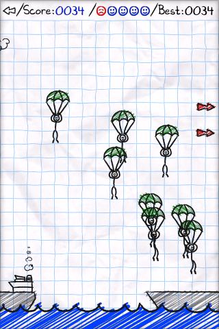 parachute panic mobile game