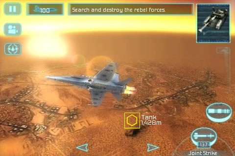 201134 Tom Clancy's H.A.W.X' Dogfighter da Gameloft aterrisa no iPhone