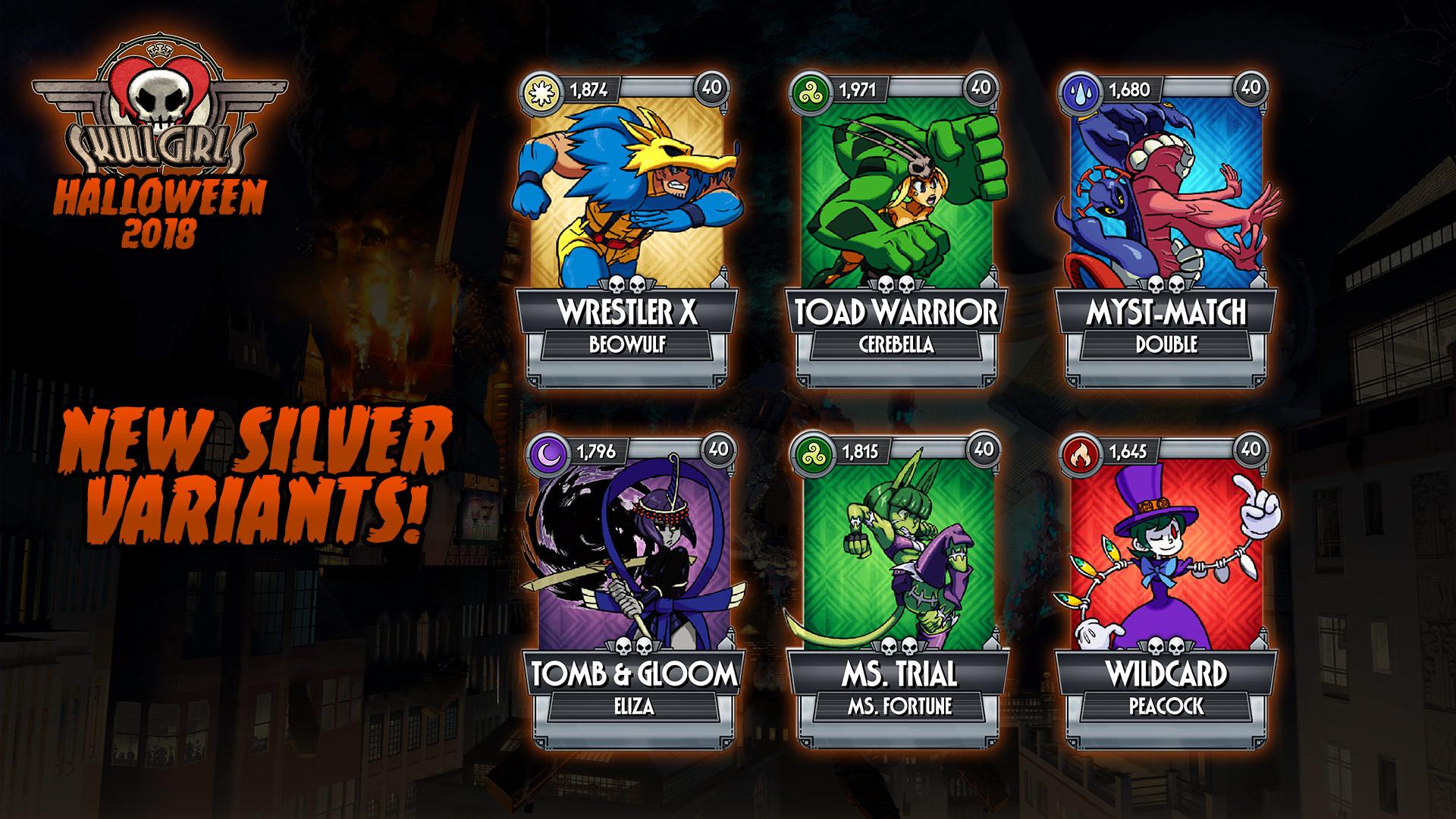 Halloween Games 2018.New Skullgirls Mobile Version 2 7 Update Brings Halloween Tricks