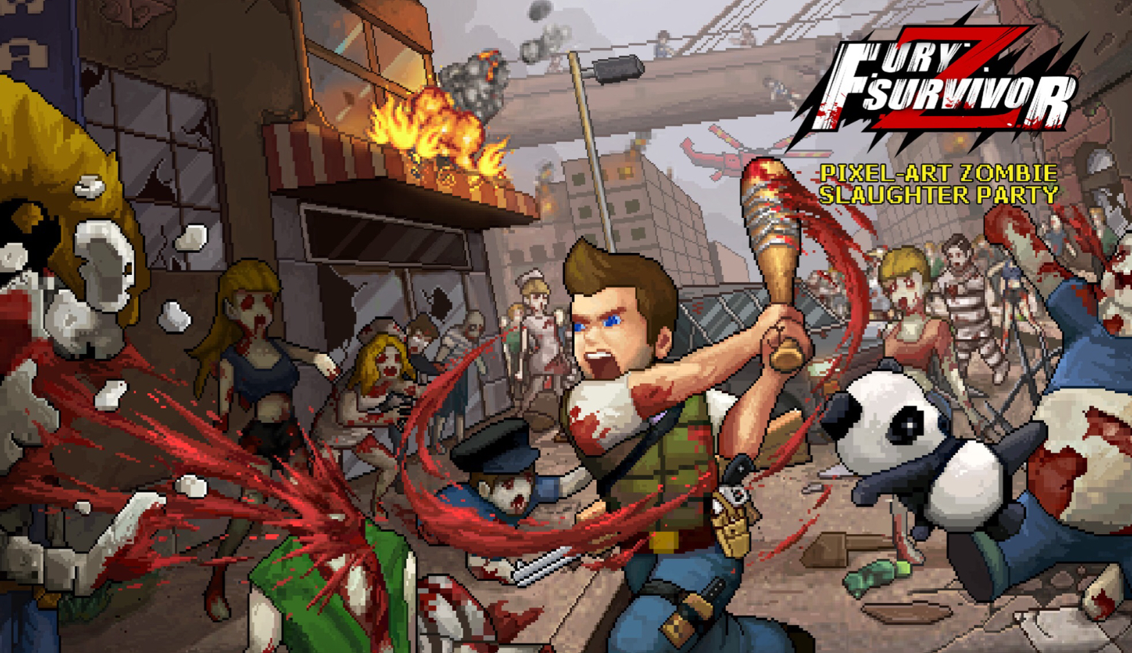 Fury Survivor: Pixel Z' is a hack and slash game with RPG elements