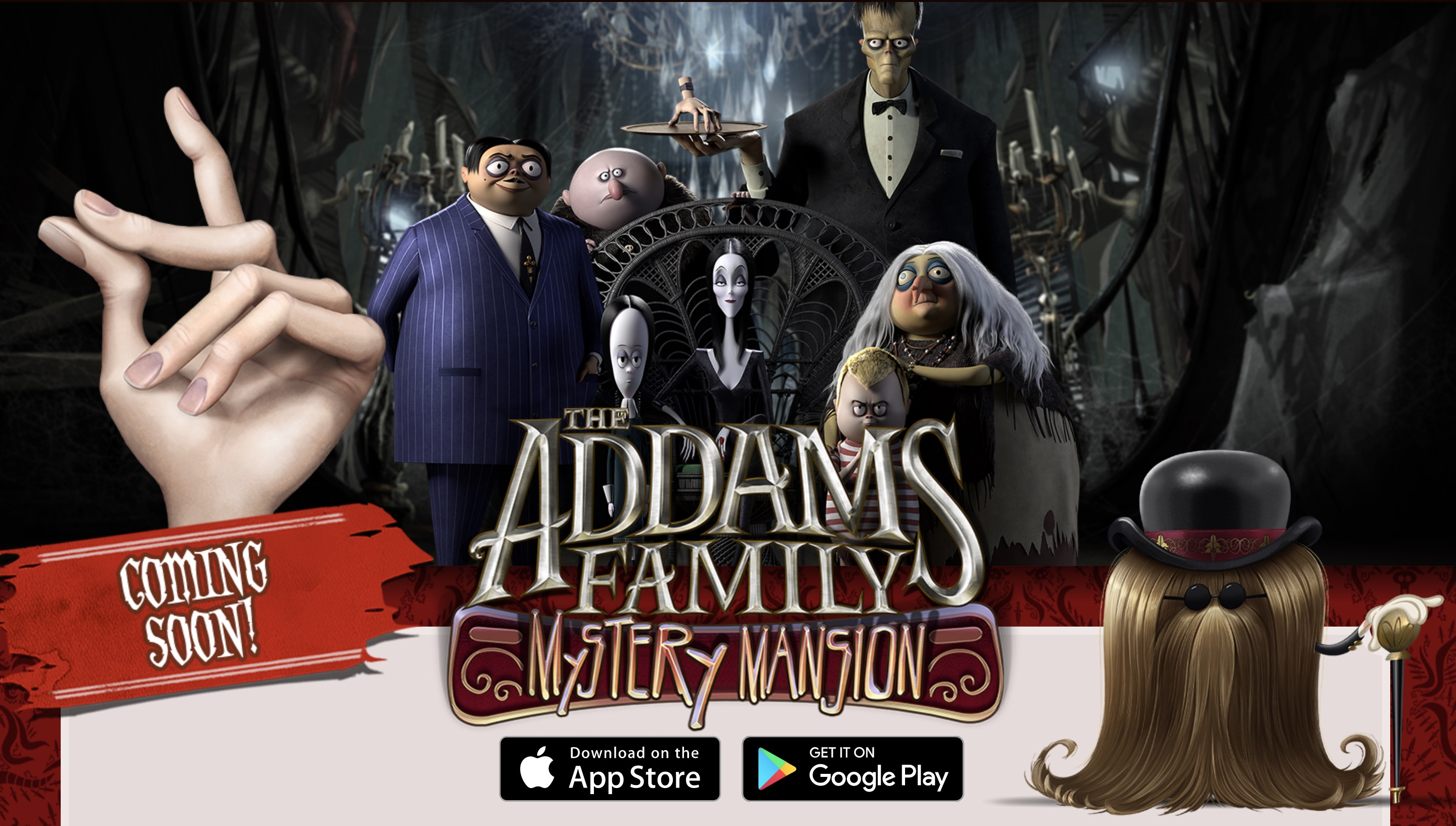 The Addams Family Mystery Mansion Is An Upcoming Mobile Game Based On The Upcoming Addams Family Animated Movie Toucharcade