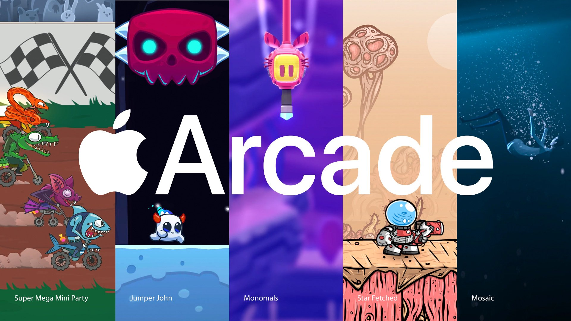 New Apple Arcade Game Releases: 'Jumper Jon', 'Monomals', 'Star Fetched', Super Mega Mini Party', and 'The Mosaic'