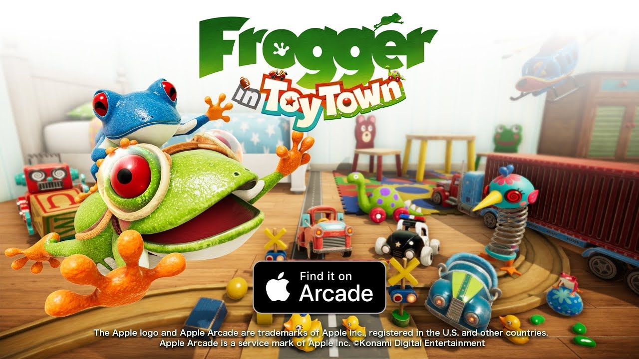 Cooperative 2-Player Mode Coming to Konami's 'Frogger in Toy Town' on Apple Arcade