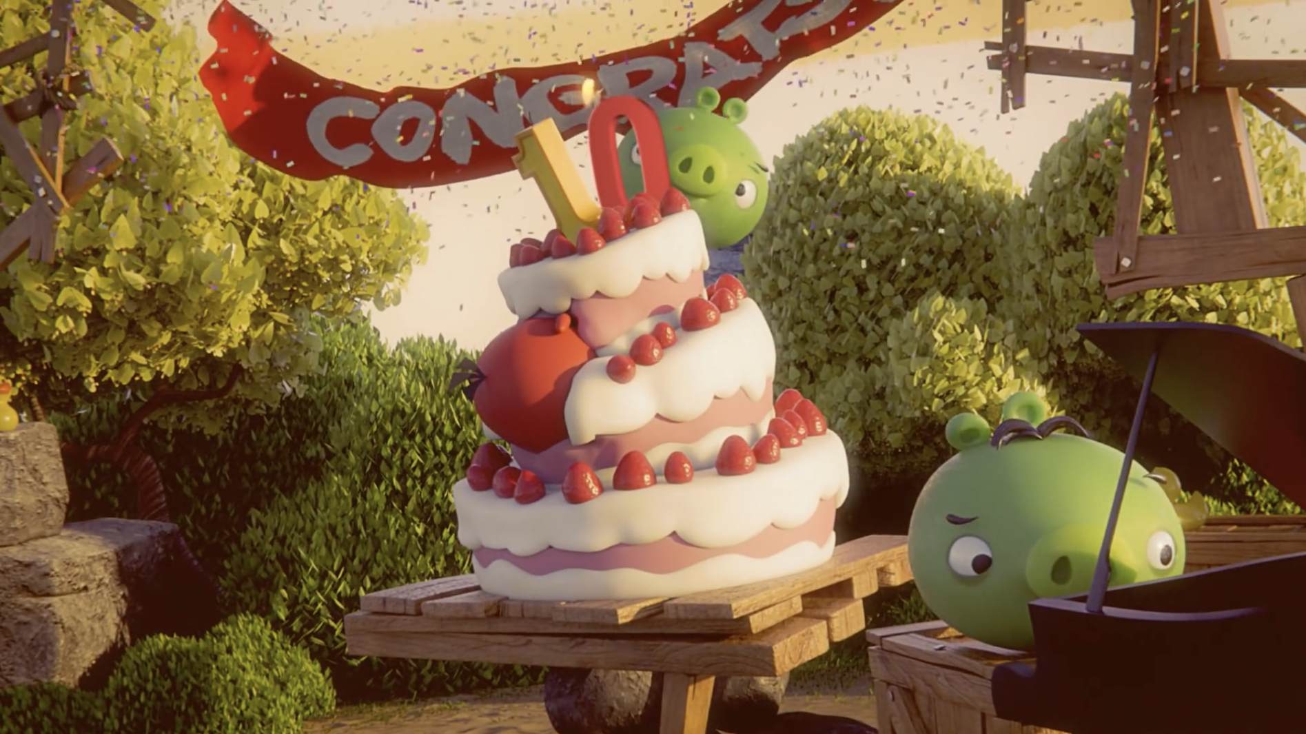 'Angry Birds'celebrates its 10th anniversary today with a look back at the past decade of franchise–good
