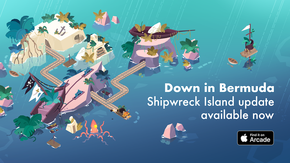 Apple Arcade Puzzler 'Down in Bermuda' Expands with New Shipwreck Island Update