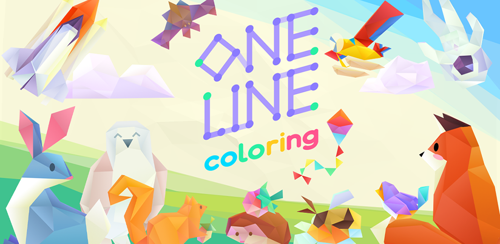 Beautiful Low-Poly Puzzler 'One Line Coloring' from 'Hexologic' Developer MythicOwl Launches August 21st