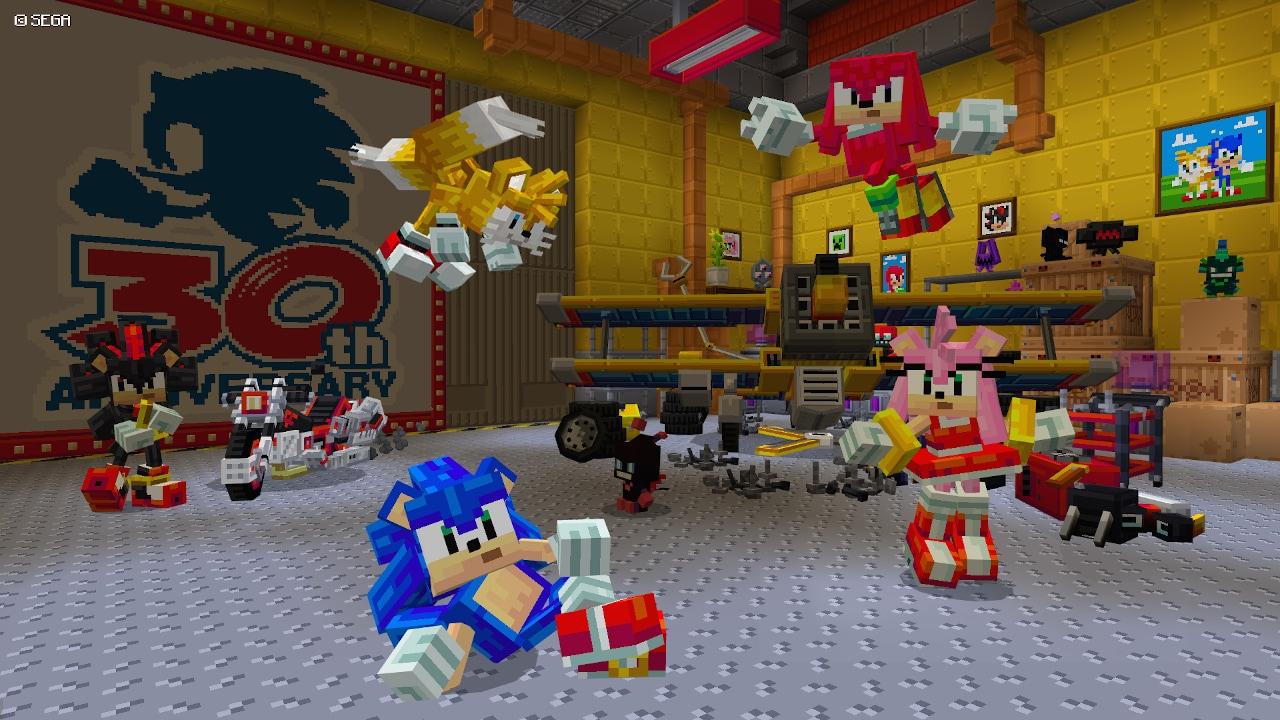photo of Sonic The Hedgehog Comes to 'Minecraft' in New DLC Pack image